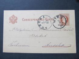 Korrespondenzkarte Wien - Auscha 1882  ///  D*16798 - 1850-1918 Imperium