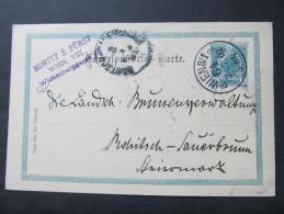 Korrespondenzkarte WIEN VIII. - Rohitsch Sauerbrunn 1903 Fa.Moritz S.Fürst ///  D*16803 - 1850-1918 Imperium