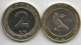 Bosnia And Herzegovina 2  KM  2003. UNC Bimetal  Bimetallic - Bosnia Erzegovina