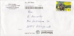 Privatpost - / MZZ Briefdienst / Biberpost - Gelaufener Brief Mit Marke Und Beförderungsstempel - Private & Local Mails