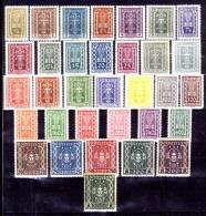 Austria-F-0035 - 1922/1924 - Valori della serie, Unificato: n.253/289A (++/+) MNH/TLH - Privi di difetti occulti.