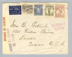 OZ Australien 1940-10-21 Zensurbrief Nach Texas USA - 1937-52 George VI