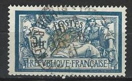 """FR YT 123 """" Type Merson 5F. Bleu Et Chamois """" 1900 Oblitéré - 1900-27 Merson"""