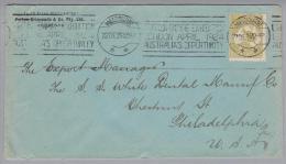 OZ Australien 1923-12-22 Brief Melbourne Nach USA Philad. - 1913-48 Kangaroos