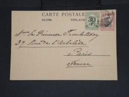 FINLANDE - Carte Postale Pour La Princesse Troubetskoy  à Paris En 1922 - Aff. Plaisant - à Voir - Lot P7440 - Finland