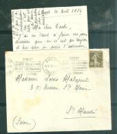 Yvt 193 Su/lac Obli Brest Finistère 10/5/1926 - Brest/la Cote Des Légendes/la Rade Las Calvaires / Les Pardons Mala6405 - Postmark Collection (Covers)