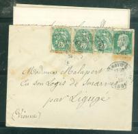 AFFRAN.  à Base 5 Cent Type Blanc + 15 Cent Pasteur En Juillet 1927 Sur Lac Oblit Fontenay Le Comte ( Dep 85)mala6407 - 1900-29 Blanc