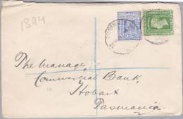 OZ Australien 1907-10-28 BALRANALD New South Wales Brief Nach Tasmanien - 1850-1906 New South Wales