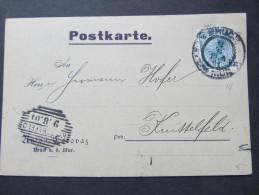 Korrespondenzkarte BRUCK A.d.Mur - Knittelfeld 1901 Franz Cerovaz ///  D*16820 - 1850-1918 Imperium