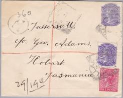 OZ Australien 1901-03-22 R-Brief Nach Tasmanien - 1855-1912 South Australia