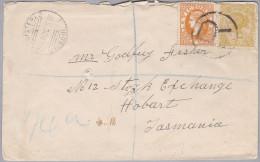 OZ Australien 1907-06-29 Melbourne R-Brief Nach Hobart - 1850-1912 Victoria