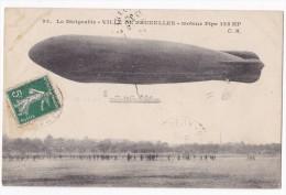 "Le Dirigeable "" VILLE DE BRUXELLES "" Moteuir Pipe 125 HP. Carte Rare - Dirigibili"