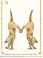 CHATS Dessinés Représentant La Lettre M  . CPM - Cats
