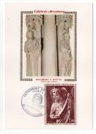 1971--Carte Maximum-Soie--Cathédrale De Strasbourg-67 --cachet  STRASBOURG--67 - Cartes-Maximum