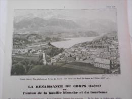 - Article De Presse - Régionalisme - Corps, Lac Du Sautet, Notre Dame De La Salette - Route D'Ambel -1936 - 5  Pages - - Documents Historiques
