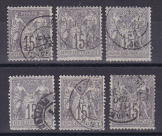 LOT SAGE N° 66 OBL COTE 90€ 6 TIMBRES - 1876-1878 Sage (Type I)