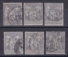 LOT SAGE N° 66 OBL COTE 90€ 6 TIMBRES - 1876-1878 Sage (Tipo I)