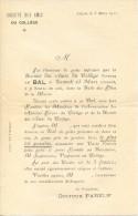 Invitation Au Bal Des Amis Du Collège De Luçon, 8/3/1911 - Documentos Históricos