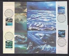 AAT 1989 Antarctic Landscapes 4v  4 Maxicards (F3835) - Maximumkaarten