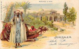 [DC4691] CARTOLINA - ISRAELE - GERUSALEMME -  JERUSALEM MOSCHEE D'AXA - Viaggiata 1909 - Old Postcard - Israele