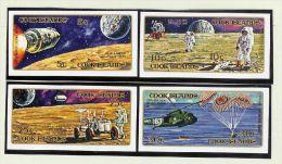 OZ Cook Island 1972 Mi#306-13 Ungezähnt ** Apollo - Cook