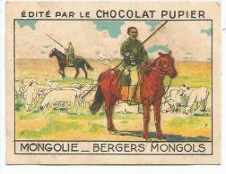 CHROMOS CHOCOLAT PUPÏER - L'ASIE - MONGOLIE - BERGERS MONGOLS.. - Schokolade