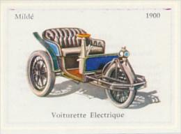 Image, VOITURE, AUTOMOBILE : Voiturette Electrique, Mildé (1900), Texte Au Dos - Auto's