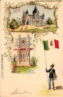 [DC4695] CARTOLINA - ITALIA - EXPOSITION UNIVERSELLE 1900 A PARIS - PALAIS DE L'ITALIE - Viaggiata 1900 - Old Postcard - Exposiciones