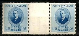 1938 REGNO Guglielmo Marconi Valore Da 1,25 Con Interspazio Nuovo ** MNH - Nuovi