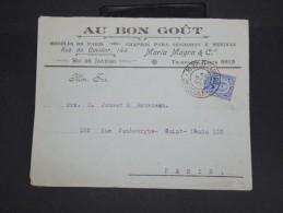 BRESIL - Enveloppe Commerciale De Rio De Janeiro Pour Paris En 1919 - à Voir - Lot P7447 - Cartas