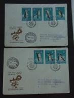 UNGARN HUNGARY 22.12.1983 Michel Nr. 3652A-3658A: Olympische Winterspiele 1984, Sarajevo - Winter 1984: Sarajevo