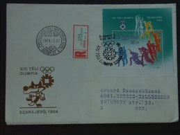 UNGARN HUNGARY 22.12.1983 Michel Nr. 3659A Block 169A: Olympische Winterspiele 1984, Sarajevo - Winter 1984: Sarajevo