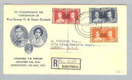 OZ Cook Islands 1937-01-01 R-Satz-Brief Nach London - Cook