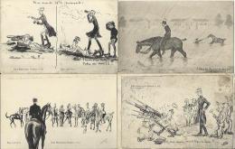 947 - Lot De 4 CPA Militaria Humoristiques (humour) - Ecole De Cavalerie - Edition Blanchaud Saumur - Humoristiques
