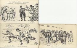 950 - Lot De 3 CPA Militaria Humoristiques (humour) - Journée D'un Cavalier - Cavalerie -  Edition Blanchaud Saumur - Humoristiques