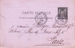 EP Y&T 89 CP 2  Obl ALGER Du 03.01.82 Adressée à Paris - Repiquage Librairie Adolphe Jourdan - Marcophilie (Lettres)