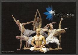 Portugal Carte Entier Postal Journée Mondiale Yoga 2015 Postal Stationery International Yoga Day - Otros