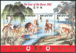 2002 Niuafo'ou (Tonga) Cavalli Horses Chevaux Block MNH** Ul6 - Tonga (1970-...)