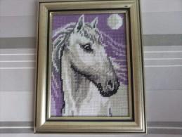 Framed Gobelin Tapestry Handmade Cheval Blank New White Horse - Rugs, Carpets & Tapestry