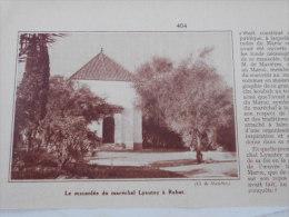 - Article De Presse - Régionalisme - Le Mausolée Du Maréchal Lyautey  à  Rabat -1935 - 1/3 De  Pages - - Historical Documents