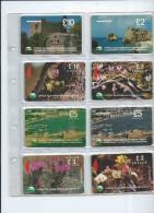 Télécartes Cyprus Chypre Vintage -  Une Page D´ Album 8 Cartes - Chypre