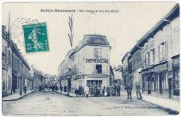Sainte Ménehould - Rue Chanzy Et Rue Zoé-Michel ( Imprimerie ) - Sainte-Menehould