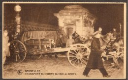 CPA E.Thill-Bruxelles, Transport Du Corps Roi Albert  I - Koninklijke Families