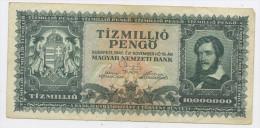 HONGRIE : 10 000 000 PENGO - USÉ - Hungary