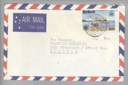 OZ Kiribati 1983-05-11 Betio Harbour Brief Nach Pötschach Oesterreich - Kiribati (1979-...)