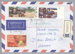 OZ Nauru 1882-07-05 R-Airmailbrief Nach Berlin - Nauru
