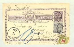 OZ Neuseeland 1898-06-11 Taxierte GS Kenepurs Nach Vevey Schweiz - Lettres & Documents