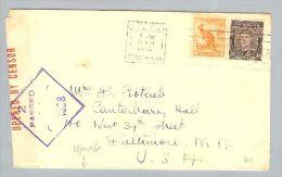OZ Neuseeland 1942-04-21 Zensurbrief Nach Baltimore USA - 1913-48 Kangaroos