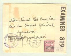 OZ Neuseeland 1940-08-16 Zensurbrief Nach Genf CH - 1907-1947 Dominion