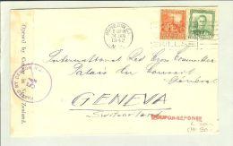 OZ Neuseeland 1942-01-24 Zensurbrief Nach Genf CH - 1907-1947 Dominion